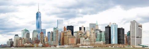 Lower Manhattanpanorama NYC Arkivbild