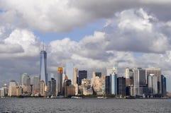 Lower Manhattanpanoraman, New York City royaltyfri foto