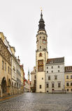 Lower market place in Gorlitz. Germany.  Royalty Free Stock Images