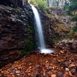 Lower Memorial Falls in Montana Stock Photography