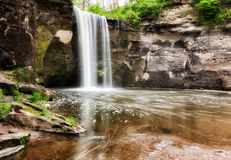 Lower Minneopa Falls. Minneopa Falls in Minneopa State Park in Mankato, Minnesota Royalty Free Stock Photo