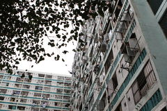 Lower ngau tau kok estate. (II) is one of the oldest public housing estates in Hong Kong. The estate was built in 1967, comprising about 4,500 households, with stock photos