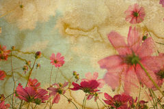 Lower paper. Old and worn flower paper texture background royalty free stock images