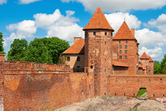 Lower park of the castle of Malbork Royalty Free Stock Photo