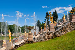 Lower Park Of The Peterhof Stock Image