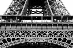 Lower part of the Eiffel tower Royalty Free Stock Photos