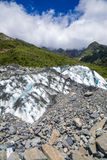 Lower part of Fox Glacier in South Island New Zealand Stock Image