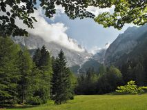 The lower part of Krma valley in Julian Alps Stock Photos