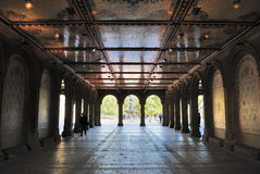 Lower Passage at Bethesda Terrace in Central Park Stock Images