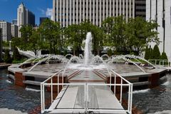 Lower Plaza Fountain Stock Images