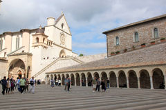 Lower Plaza of St. Francis, Assissi, Italy Stock Photo