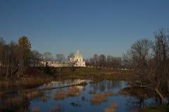 The lower pond of Oranienbaum stock photos