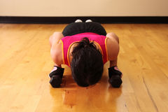 Lower pushup Royalty Free Stock Photo