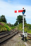 Lower quadrant semaphore signal. Royalty Free Stock Photography