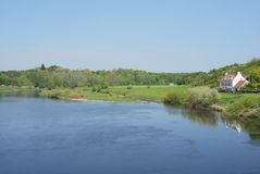 Lower river Tweed near Horncliffe Royalty Free Stock Photos