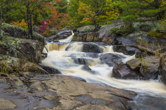 Lower Rosseau Falls, Muskoka, Ontario. Lower Rosseau Falls in the Autumn, Muskoka, Ontario, near Port Carling Royalty Free Stock Photos