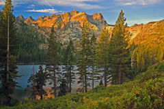 Lower Sardine Lake, Northern California Stock Photos