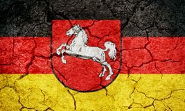 Lower Saxony, state of Germany, flag Stock Photography