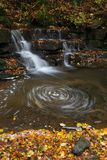Lower Scaleber Swirl Close. A waterfall in autumn in the Dales National Park Stock Photos
