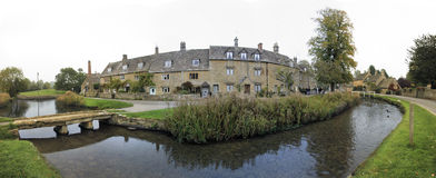 Lower slaughter cotswalds village oxfordshire uk Royalty Free Stock Images