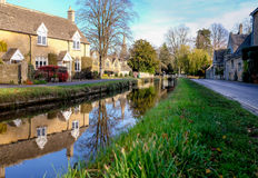 Lower Slaughter, Cotswolds, England Stock Images