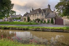 Lower Slaughter, Cotswolds royalty free stock image