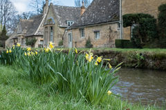 LOWER SLAUGHTER, GLOUCESTERSHIRE/UK - MARCH 24 : Scenic View of Stock Photo