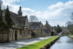 LOWER SLAUGHTER, GLOUCESTERSHIRE/UK - MARCH 24 : Scenic View of royalty free stock images