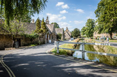 Lower Slaughter view stock photography
