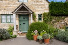 Lower Slaughter Village Houses Cotswolds stock photography