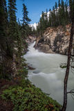 The Lower Sunwapta Falls Stock Photo