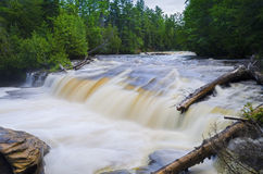 Lower Tahquamenon Falls rapids Royalty Free Stock Images