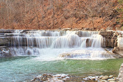 Lower Taughannock Falls in Winter Royalty Free Stock Photography