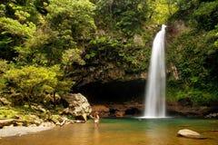 Lower Tavoro Waterfalls in Bouma National Heritage Park, Taveuni Stock Photos