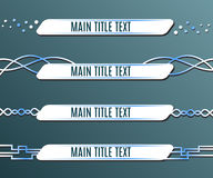 Lower third banners. Set of blue banners lower third. Vector illustration Stock Photos