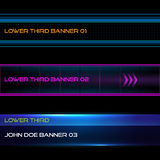 Lower third banners. Set of vector lower third modern contemporary tv bottom banners vector illustration