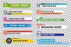 Lower third template. Set of TV News bar . News banner for TV streaming vector illustration