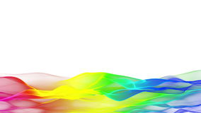 Lower thirds colorful abstract flowing background, blurred wave effect stock footage