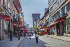 The Lower Town is a historic district located of Quebec City.