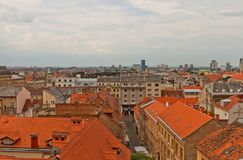 Lower Town of historic part of Zagreb, Croatia Royalty Free Stock Photography