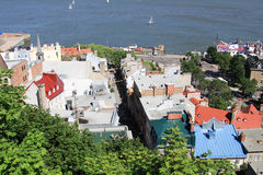 Lower town of Old Quebec city ,canada Stock Photography