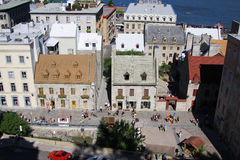 Lower town of Old Quebec city ,canada Royalty Free Stock Photos
