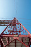 Lower  view of the Biscay Bridge Royalty Free Stock Photos