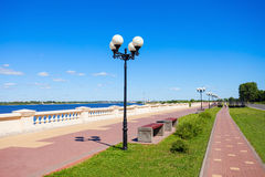 The Lower Volga embankment. Lower Volga embankment on Volga river in Nizhny Novgorod in Russia royalty free stock image