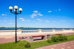 The Lower Volga embankment Royalty Free Stock Photos