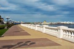 Lower Volga river embankment in Nizhny Novgorod Stock Photo