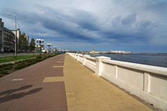 Lower Volga river embankment in Nizhny Novgorod Stock Images