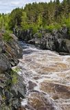 Lower Vyg river in Nadvoitsy settlement Royalty Free Stock Photos