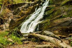 Kent Falls. The lower waterfall at Kent Falls State Park in Connecticut Royalty Free Stock Photos