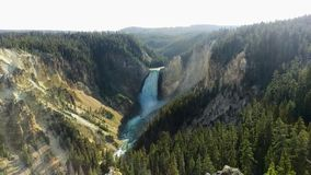 Lower Yellowstone Falls in Afternoon. royalty free stock photos